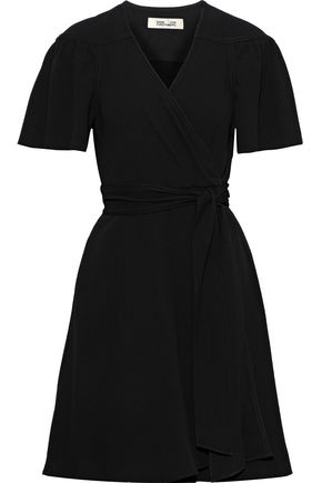 DIANE VON FURSTENBERG Zella crepe mini wrap dress