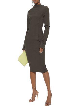 Rick Owens Dress RICK OWENS WOMAN COTTON-BLEND CREPE DRESS DARK GRAY