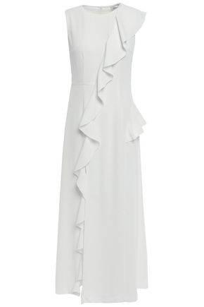 GOEN.J Ruffled crepe midi dress