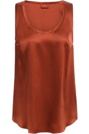 BRUNELLO CUCINELLI Silk-blend satin tank