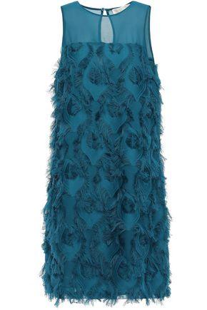 MICHAEL MICHAEL KORS Fil coupé crepe de chine mini dress