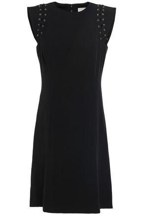 MICHAEL MICHAEL KORS Lace-up crepe mini dress