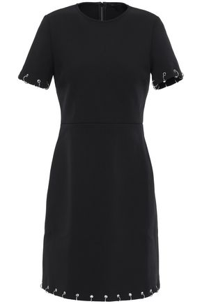 MAJE Embellished stretch-crepe mini dress