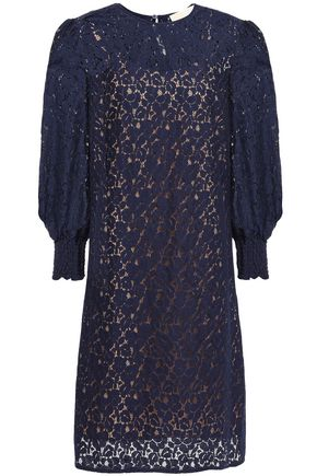 MICHAEL MICHAEL KORS Cotton-blend guipure lace mini dress