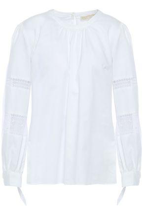MICHAEL MICHAEL KORS Lace-paneled cotton blouse