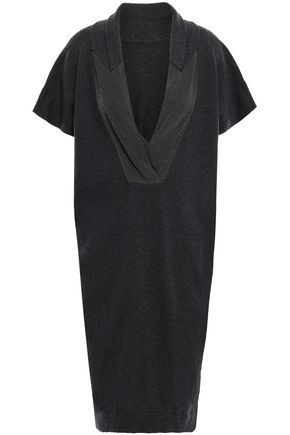 BRUNELLO CUCINELLI Bead-embellished cashmere dress