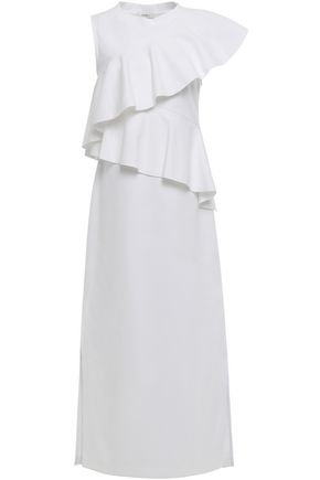 GOEN.J Ruffled cotton-jersey midi dress