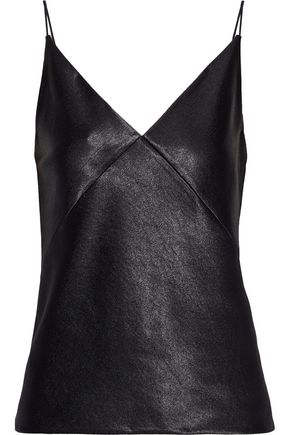VINCE. Satin-crepe camisole
