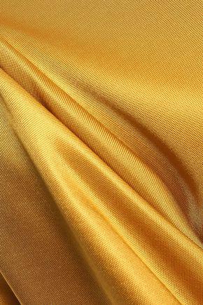 ALEXACHUNG Ruffled satin-jersey midi dress