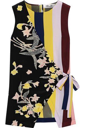 DIANE VON FURSTENBERG Sedona printed silk crepe de chine wrap top