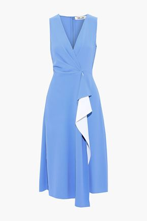 DIANE VON FURSTENBERG Addison draped two-tone crepe dress