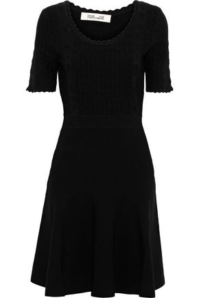 DIANE VON FURSTENBERG Lark scalloped ponte mini dress