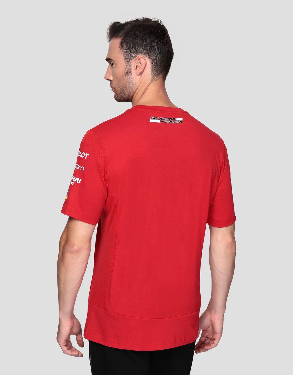 Scuderia Ferrari Online Store - Scuderia Ferrari Vettel Replica T-shirt - Short Sleeve T-Shirts