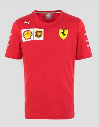 Scuderia Ferrari Online Store - Scuderia Ferrari Leclerc Replica T-shirt - Short Sleeve T-Shirts