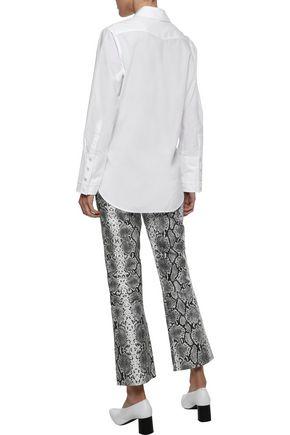 IRIS & INK Ragnelle cotton-poplin shirt