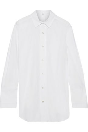 IRIS & INK Ragnelle cotton-poplin shirt