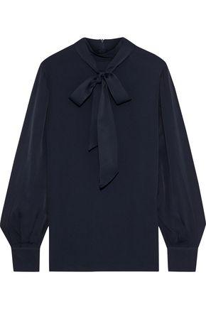 IRIS & INK Olga pussy-bow crepe de chine blouse