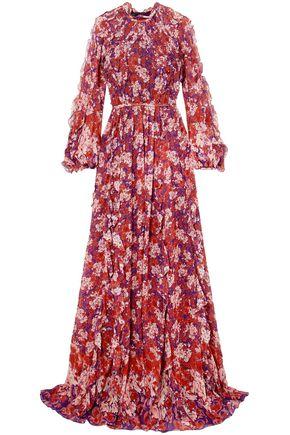 GIAMBATTISTA VALLI Ruffled floral-print silk-georgette gown