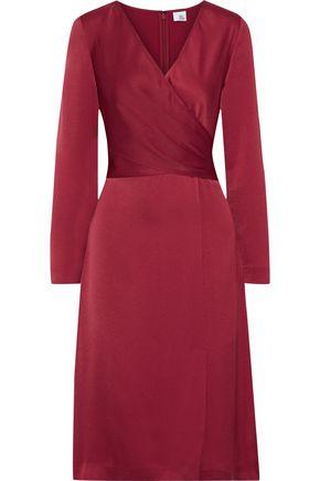 IRIS & INK Siri wrap-effect satin-crepe dress