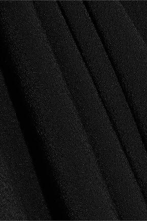IRIS & INK ベルト&ボタン付き クレープ ワンピース