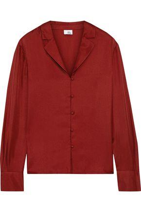 IRIS & INK Petra silk-twill shirt