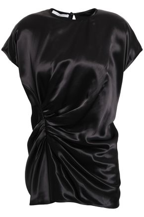 HELMUT LANG Ruched satin top