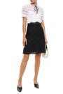 SANDRO Paneled lace and organza dress