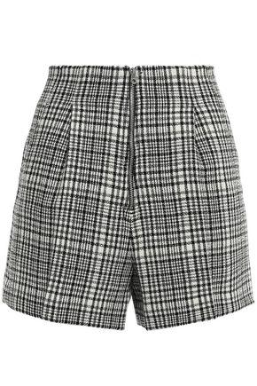 SANDRO Pleated wool-blend shorts