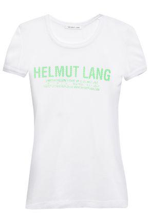 HELMUT LANG Printed mesh T-shirt