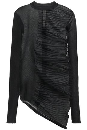 RICK OWENS Asymmetric paneled knitted top
