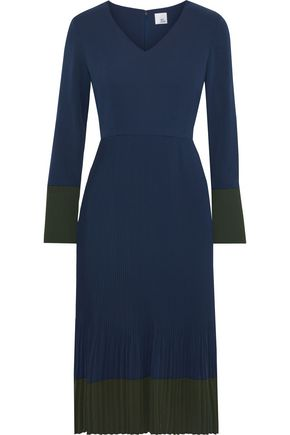 IRIS & INK Marne pleated crepe dress