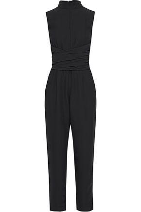 IRIS & INK Luna belted crepe jumpsuit