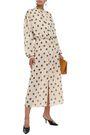 NANUSHKA Zahara tie-neck crinkled-georgette midi dress