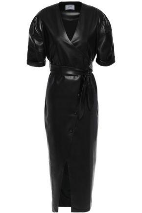 NANUSHKA Penelope vegan leather midi wrap dress