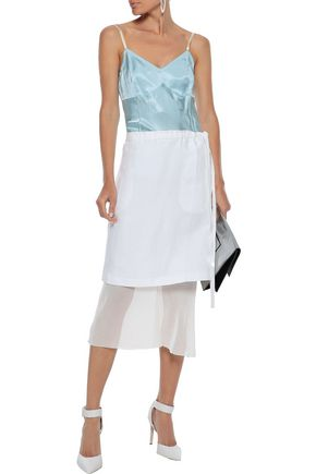 Helmut Lang Woman Charmeuse Camisole Light Blue