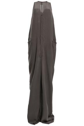 RICK OWENS Silk crepe de chine jumpsuit