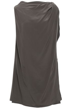 RICK OWENS Draped silk-crepe top