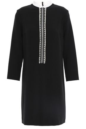SANDRO Picot-trimmed cady mini dress