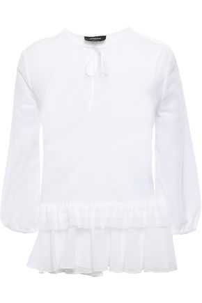 ROCHAS Tiered cotton blouse