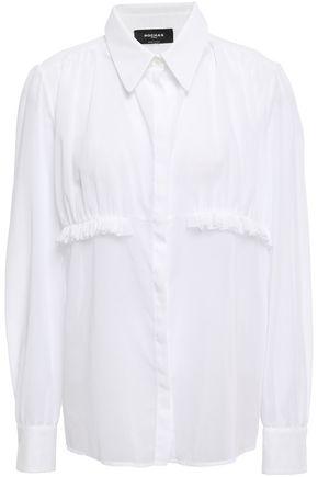 ROCHAS Ruffle-trimmed cotton shirt