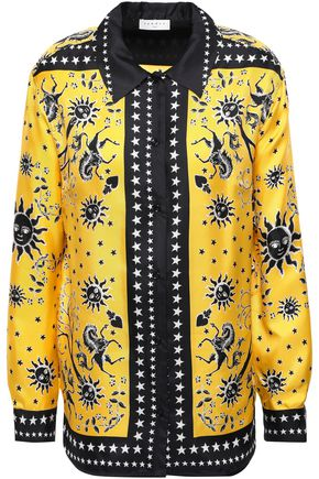SANDRO Silk-twill shirt