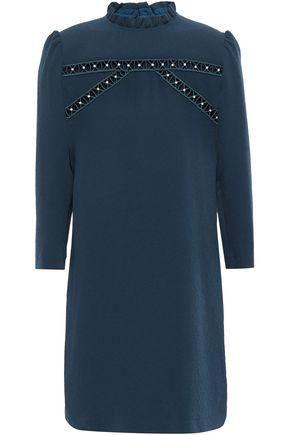 SANDRO Hugo faux pearl-embellished cloqué mini dress