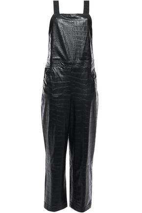 NANUSHKA Frank croc-effect vegan leather jumpsuit