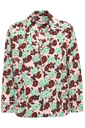 SANDRO Arum floral-print crepe de chine shirt