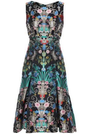 MARY KATRANTZOU Talon pleated brocade dress