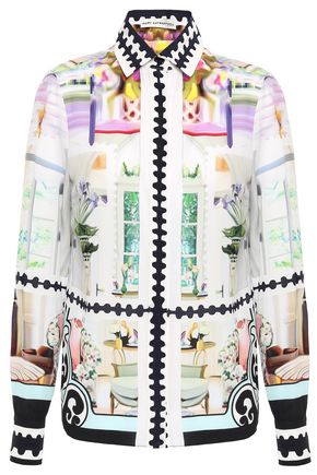 MARY KATRANTZOU Silk crepe de chine shirt
