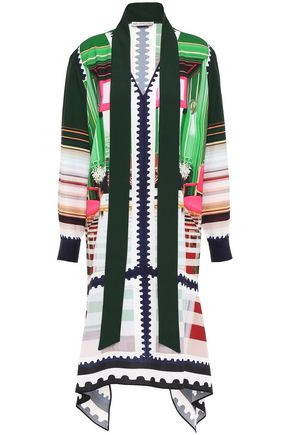 MARY KATRANTZOU Asymmetric satin-jacquard dress