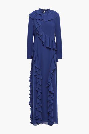 MIKAEL AGHAL Ruffled chiffon gown