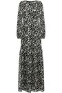 MIKAEL AGHAL Ruffled floral-print georgette gown