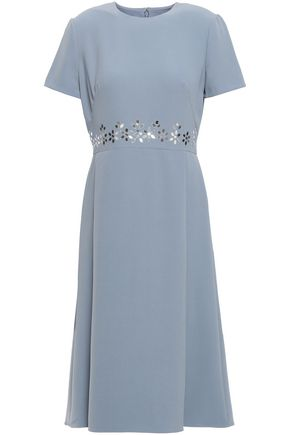 MIKAEL AGHAL Sequin-embellished crepe dress